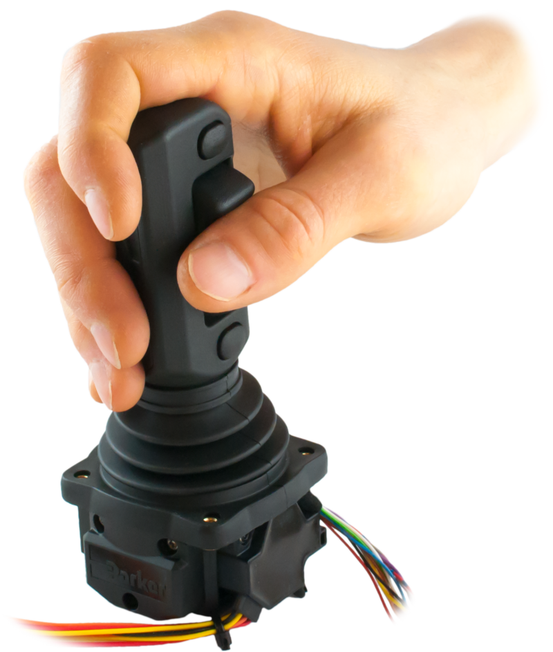 EMIC-7, hand grips ergonomic multifunction mini-coordinate joystick. Electrum Automation AB