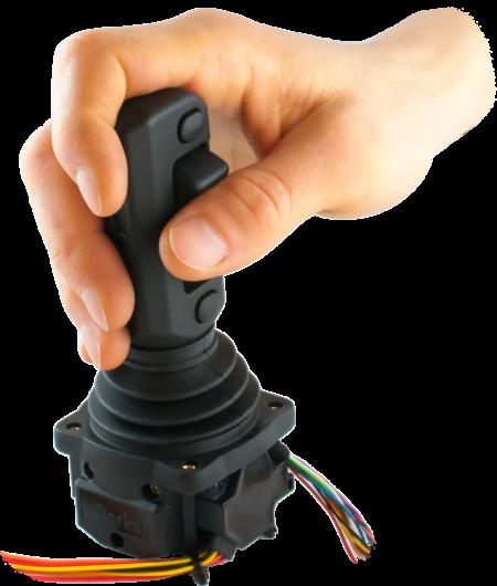EMIC-7, hand grips ergonomic multifunction mini-coordinate joystick. Electrum Automation AB