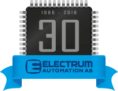 Electrum 30th anniversary badge