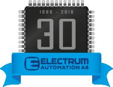 Electrum 30th anniversary badge